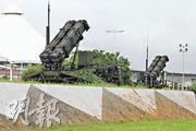 台軍「漢光35號」演習昨日結束。圖為台灣空軍現行性能最佳的愛國者3型防空導彈首次駐防大佳河濱公園。(中央社)