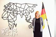 Gyde Jensen在德國國會的辦公室接受本報專訪。她說一直關注香港和中國的人權狀况。(楊康琪攝)