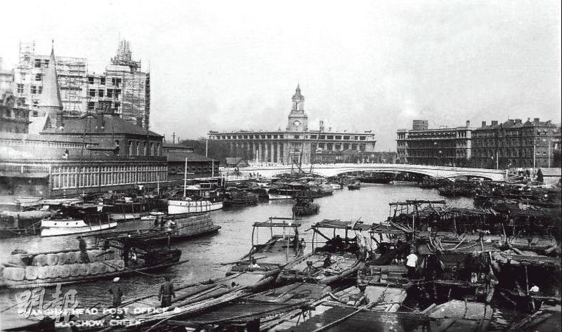 上世紀二十年代的上海吳淞江。