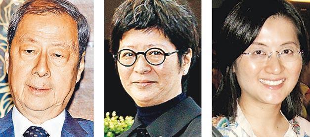 其士國際創辦人周亦卿(左圖)去年去世,長女周莉莉(中圖)今年5月就父親的遺囑爭議,入稟高院控告妹妹周蕙蕙(右圖)等家人。(資料圖片)
