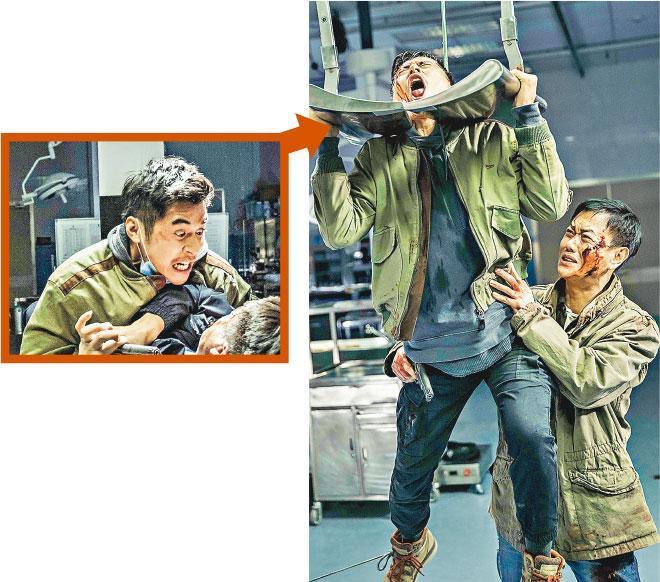 在導演的指導下,陳家樂(左)拍打鬥戲多了一份邪惡感。
