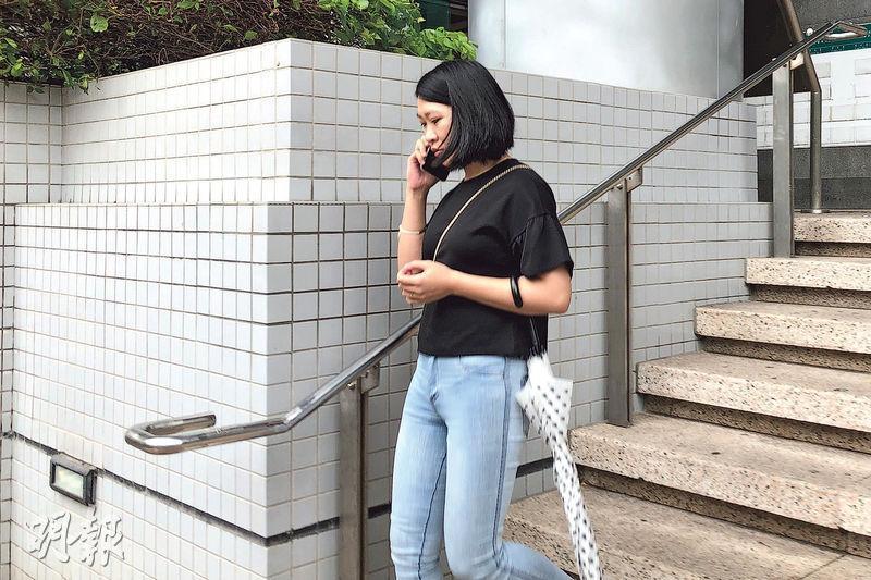 28歲女被告馮茵怡被控一項虐兒罪名,由於事主母親不欲兒子出庭作供,控方申請不提證供起訴,被告獲撤銷控罪。(張彤攝)