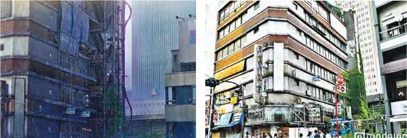 位於東京的代代木會館,是《天氣之子》其中一個場景(左圖),現實生活中該館於本月1日拆卸(右圖)。