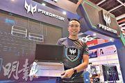 參展商Acer渠道經理陳啟賢(圖)表示,今年產品的定價將更進取。(楊柏賢攝)