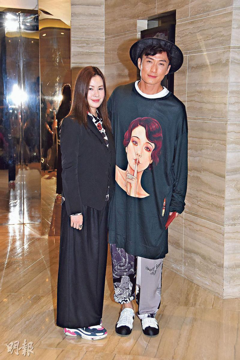 陳山聰(右)5年前與Apple(左)相戀,早認定她是結婚對象。
