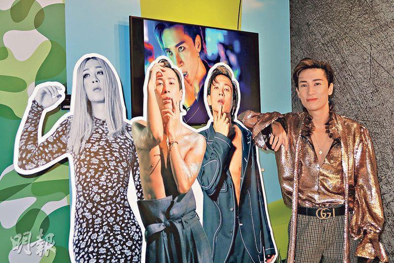 馬天佑將新歌MV中3個造型做成紙板人。(攝影/記者:林蘊兒)