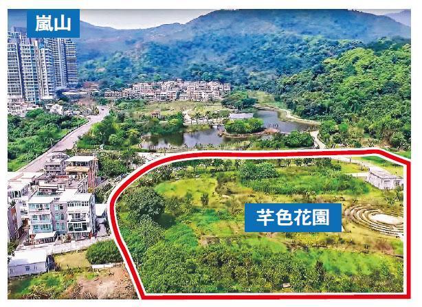 長實早前就大埔鳳園地皮,向城規會申請改劃住宅,有關的發展範圍包括芊色花園(紅圈)的部分用地,預計提供近1500個住宅單位。(資料圖片)