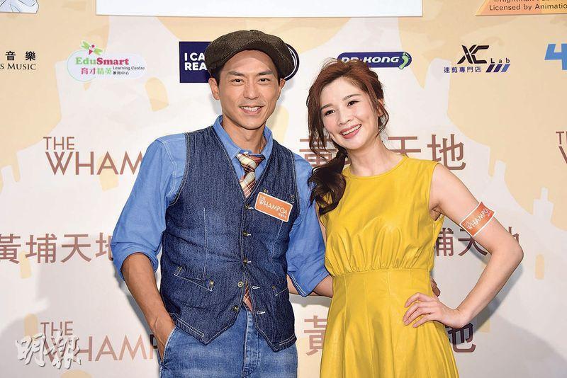 森美(左)及麥美恩即將啓程到日本拍《森美旅行團3》。(攝影:鍾偉茵)
