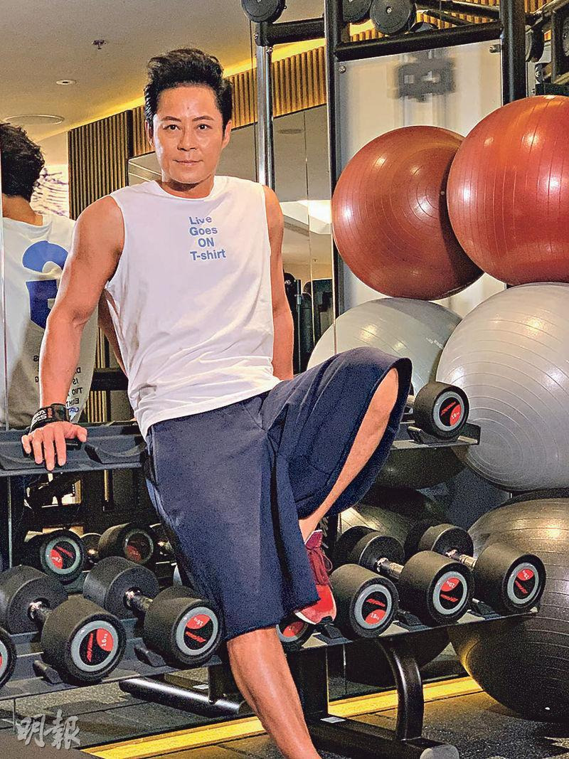 蔡一傑稱一直有操練,身形30年來未變。