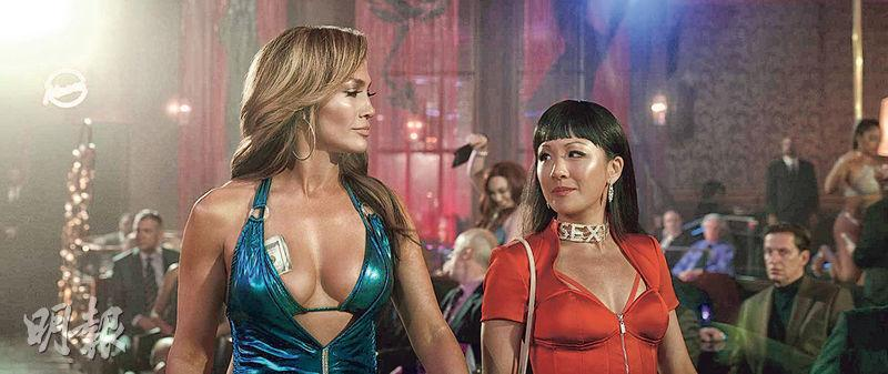 《Hustlers》除了JLo(左)外,《我的超豪男友》女主角吳恬敏(右)也演出一角。