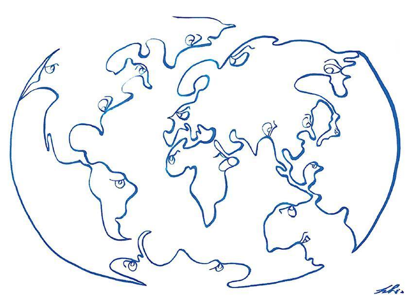 地球是一條線聯繫着,人類用國界分割世界。(圖:賴恩慈)