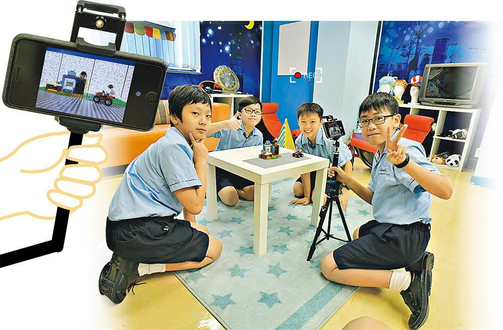 左起:張義揮(六年級)、邱朗榮(四年級)、陳兆然(六年級)及吳偉樂(五年級)
