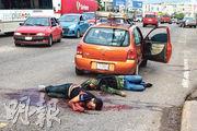 墨西哥警方周四(17日)在庫利亞坎市拘捕大毒梟古斯曼之子奧維迪奧的行動,觸發幫派反擊,與警方爆發槍戰,其間最少兩人死亡。(路透社)