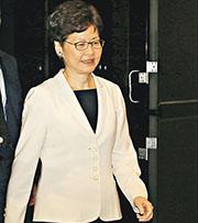 特首林鄭月娥昨晚出席印度商會活動,對於傳出中央有意撤換特首,林太未有回應。