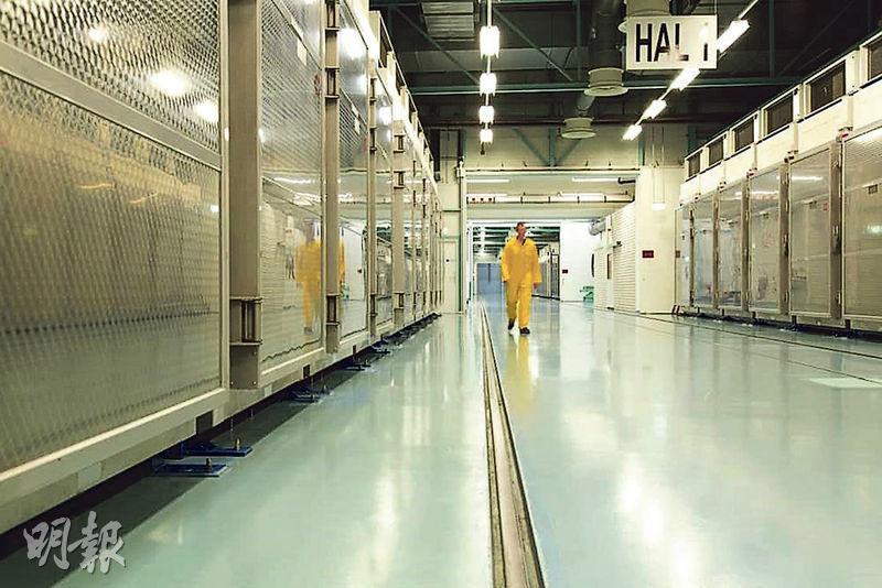伊朗原子能組織周三發布相片,指福爾多核設施將於午夜起重啟濃縮鈾活動,代表伊朗進一步縮減履行核協議的內容。(法新社)