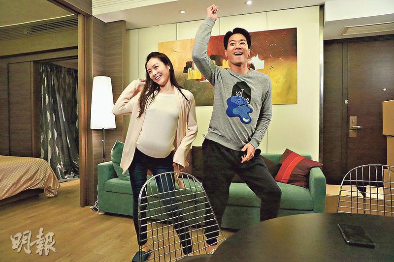 黎諾懿伙拍李佳芯(左)演《BB來了》大受歡迎,他說沒想過大家會喜歡他這個爸爸形象。
