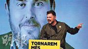 支持加泰隆尼亞獨立的「左翼黨」候選人如魯菲安等,在競選活動上曾使用前加泰自治政府副主席容克拉斯的照片,後者上月在最高法院被判囚13年。(網上圖片)