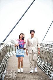 陳喬恩(左)與大馬富二代曾偉昌因參與內地綜藝節目而成為戀人。(網上圖片)