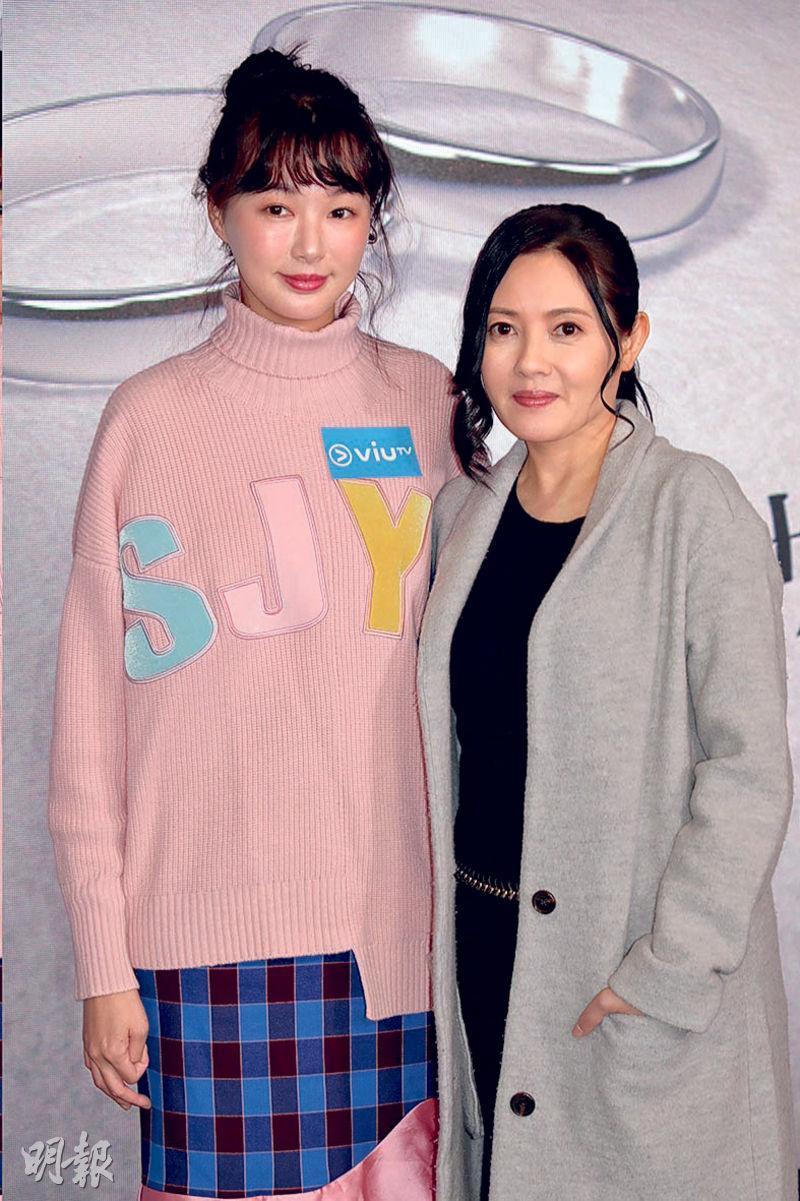 趙頌茹(左)與李麗珍(右),為ViuTV真人騷,到外地體驗異地婚姻文化。(攝影/記者:林祖傑)
