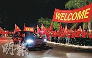 中國國家主席習近平上月12日到訪巴西利亞出席金磚國家峰會,其車隊受到民眾夾道歡迎。(法新社)