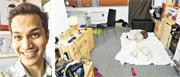 西納加(左圖)在租住的曼徹斯特公寓(右圖)內強姦、性侵犯最少195名男子。有受害者憶述,見到身材矮小的西納加釋出善意又常面露笑容,令他們掉以輕心。(網上圖片)
