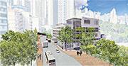 校方擬斥資逾4億元,拆卸新翼禮堂大樓,改建成8層高、內有學生宿舍及體育設施的大樓,圖為新大樓模擬設計圖。(學校提供)