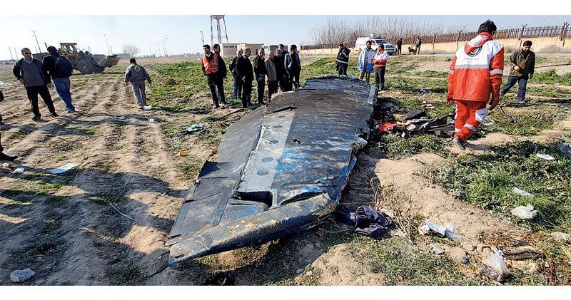 墜毁的波音737客機殘骸。(資料圖片)
