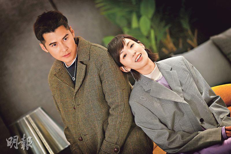 陳家樂(左)與李靖筠(右)首次擔正賀歲片。(攝影﹕劉永銳)
