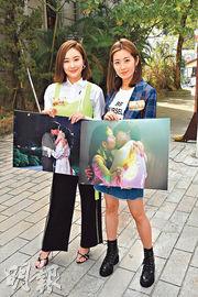 陳瀅(左)與陳自瑤(右)在劇中分別與洪永城有咀戲。(攝影:黃梓烜)