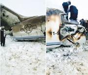 阿富汗塔利班昨在社交網上發放片段,聲稱是一架美國空軍E-11飛機被擊落後的殘骸。(網上圖片)