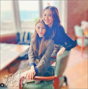 朱千雪(右)首年派利市,相約在韓國發展的莊錠欣(左)茶敘。(網上圖片)