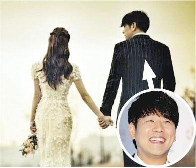 柳時元(右)昨日迎娶圈外女友,婚禮謝絕傳媒採訪。