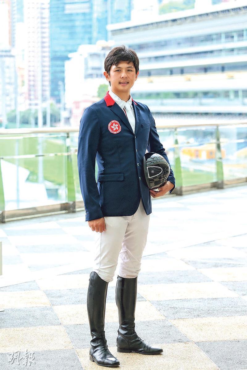 鄭文傑(圖)為港搶得馬術場地障礙賽資格,港隊暫奪18張東京奧運入場券。(相片由香港馬術總會提供)