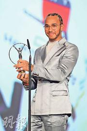 英籍車手咸美頓(圖)與美斯均首膺最佳男運動員,亦是此獎項首次由二人瓜分。(Getty Images)