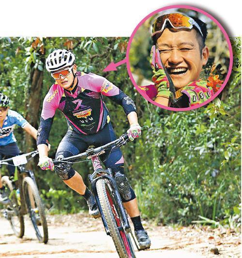 吳浩康首次參加越野單車挑戰賽便獲獎,令他喜出望外。