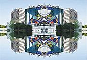 民政局facebook上載《禾.日.水.巷》團隊嘅創作,其中一個影像係將裝修後重新開放嘅藝術館,變成對稱嘅影像,既熟悉又陌生。(短片截圖)