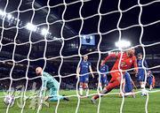 於阿仙奴出道的拜仁慕尼黑翼鋒基拿比(右前),今季在歐聯對熱刺及車路士共入6球,堪稱倫敦之王。(Getty Images)