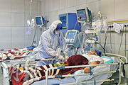 伊朗累計確診人數昨日突破2000,情况令人憂慮。圖為德黑蘭的確診者留院接受治療。(法新社)