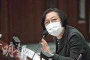 食物及衛生局長陳肇始(圖)昨出席立法會衛生事務委員會,被多名立法會議員追問會否禁止非港人入境,她多次重申會審視情况,不排除會加強現行措施。(林若勤攝)