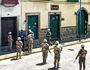 有滯留在秘魯庫斯科(Cusco)的港人表示,當地物資尚算充足,但晚上8時至清晨5時戒嚴,日間又有軍人在街上持槍巡邏,不敢外出。(受訪者提供)