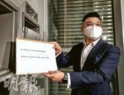 寶庭劉岳峰表示,在低息環境下資產有支持,會以合理價投地。(李紹昌攝)