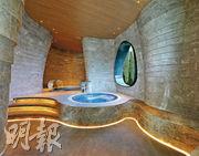 物業設雙會所Club Carmel,以水為設計概念,設有spa等設施。(林靄怡攝)