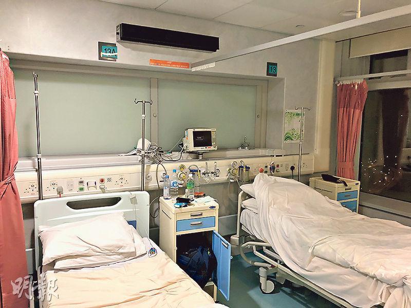 用作隔離治療新型冠狀病毒成人患者的「一線」負壓病牀只有800張,使用已趨飽和,醫管局正想辦法重整其他病房去增加容量,包括設立「二線」負壓病牀病房。(資料圖片)