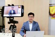 民建聯副秘書長顏汶羽(圖)近日積極拍片做YouTuber,他稱疫情打斷他落區接觸市民,故在網上發表意見,但承認建制派要在網上戰場「追番」泛民。(賴俊傑攝)