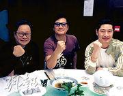 黃毓民(左起)、邵仲衡及王宗堯相約歎下午茶,後者說3個人首次圍埋「吹水」,非常開心。(網上圖片)
