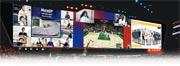 體育比賽因各地封城重開無期,MotoGP(左起)、NBA、網球賽會和運動員,借模擬器製造話題保持曝光率。(路透社/網上圖片)