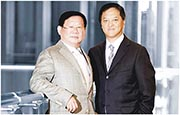 富力地產上周突向兩大股東張力(左)及李思廉(右)出售物管業務,作價僅3.3億元。(資料圖片)