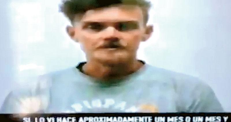 委內瑞拉電視台周三播放被捕美國人登曼 (圖)的招供片段,他聲稱受僱潛入委國企圖綁架馬杜羅。(網上圖片)