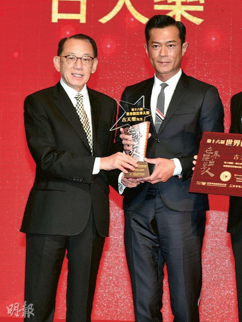 楊受成(左)與古天樂(右)合作,兩年內製作及發行共10部港產片,協助本地電影業盡快復蘇。(資料圖片)