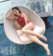 陳自瑤狀態甚佳,在新劇穿著泳衣出場,贏得不少掌聲。